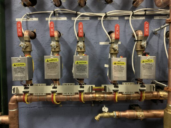 QCB valve control connected to heating.